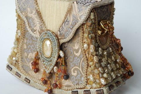 Golden Glow Retired Mary Frances Handbag