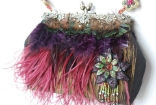 BEADED AND FEATHERED - RETIRED Mary Frances Handbag
